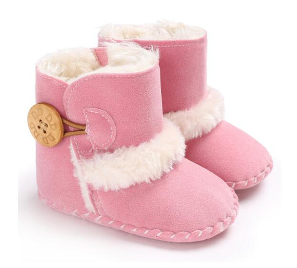 Newest Boots Winter Newborn Baby Shoes kids Boys and Girls Warm Snow Boots Infant Toddler Prewalker Shoes size 11cm-12cm-13cm