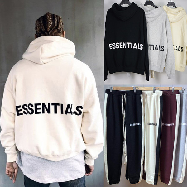 Tanrı Essentials korkusu Kazak Hoodie Justin Bieber Hip Hop Streetwear Boy Hoodie Polar Kapüşonlu Sweatshirt Ceket SIS MQH1104