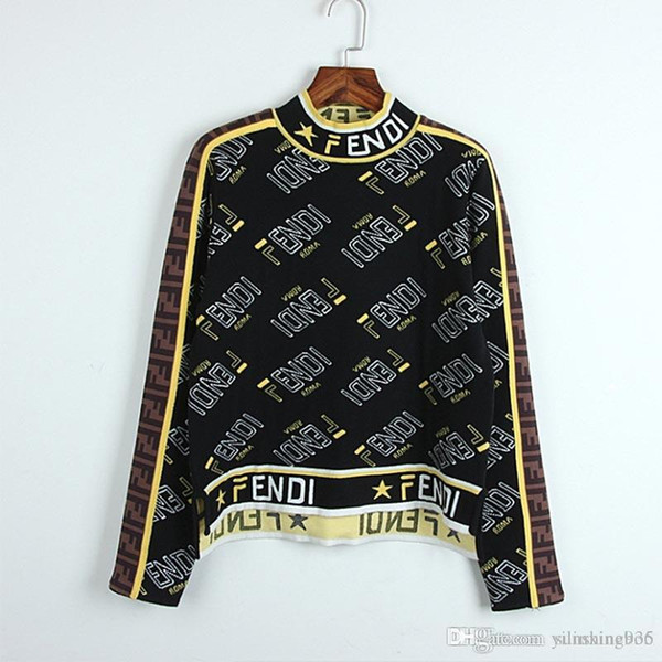 36284217d F mulheres camisolas F Carta Pentágono estrela F camisola de malha Outono  Inverno Qualit Tricô Blusas