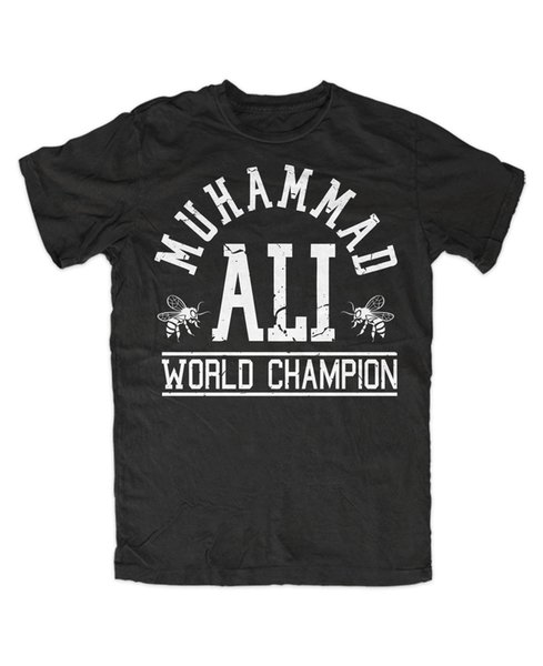 T-Shirt muhammad ali bee , king of the ring , Boxing , KO, rumble in the jungle Summer Men'S fashion Tee tops wholesale tee