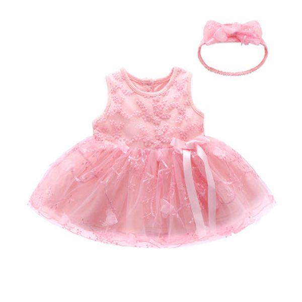 2019 Vestiti per bambini gonna in pizzo abito da principessa abito 0-12 mesi estate abbigliamento per bambini vestiti alla moda vestiti di compleanno costume