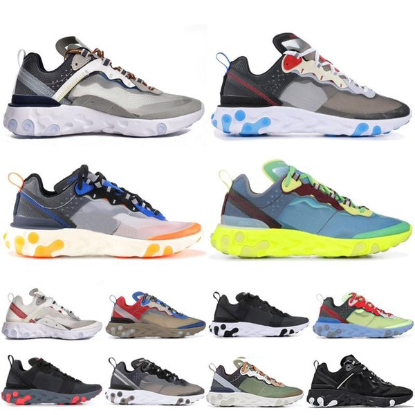 Epic React Element 87 Undercover Laufschuhe Herren Damen Designer Sneakers Dunkelgraue Mode Luxus Herren Damen Designer Sandalen Schuhe