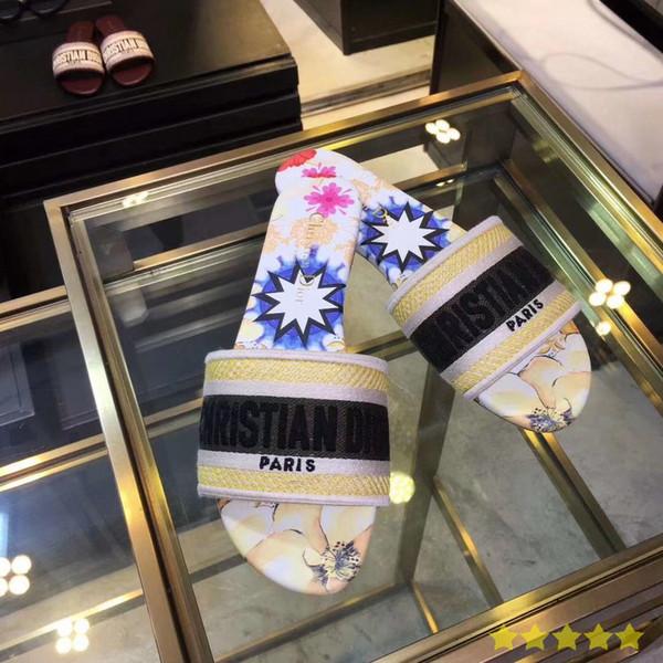 Yüksek kaliteli yıldız marka tasarımcı terlik kesme moda sıcak stil terlik kadın terlik 2145