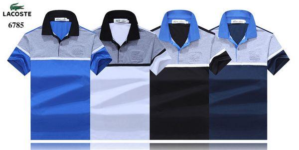 Fashiont Man Exquisito Camisa Ropa de ocio Auténtico color puro Ropa de hombre Camiseta de manga corta