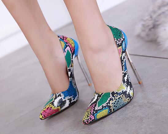 Zapatos de tacón serpentino para mujer Zapatos de tacón alto con punta puntiaguda Tacones de aguja súper altos Zapatos de boda rosa Tamaño 35-42