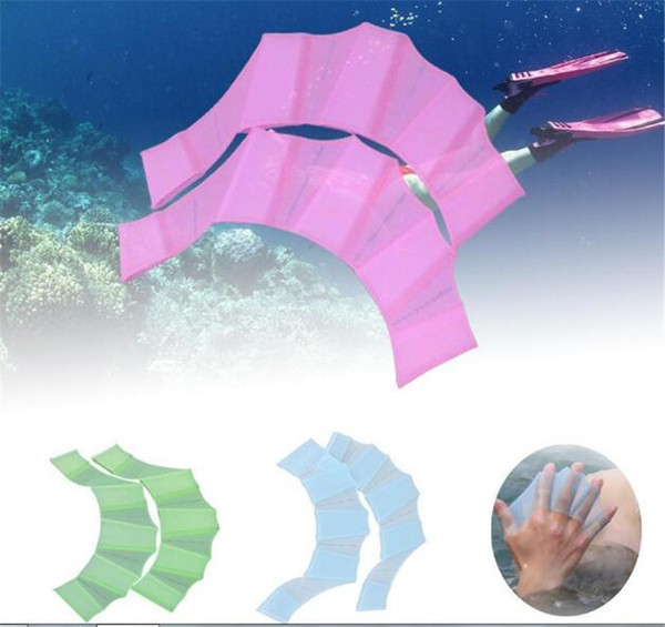 New Fins Gloves Frog silicone palmette nuoto palmate all'ingrosso nuoto artiglio rana attrezzature