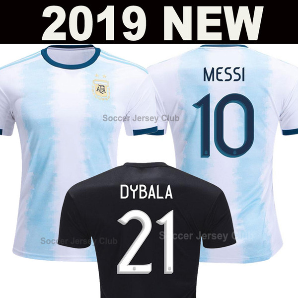 Arjantin futbol forması 2019 2020 Copa Amerika Argentina MESSI DYBALA AGUERO HIGUAIN ICARDI Erkekler Kadınlar Çocuklar tayland kaliteli futbol gömlek kiti Üniforma soccer jersey football shirt