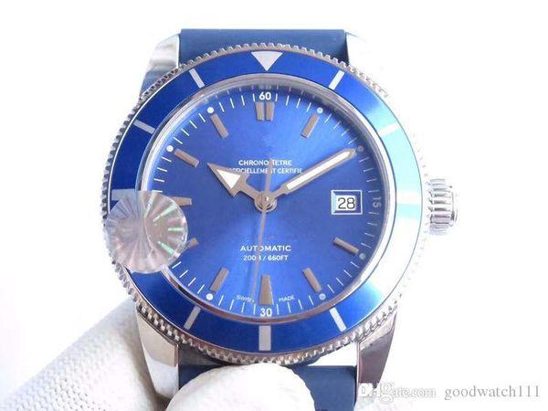 dernières montres de marque de luxe pour hommes de la série super marine 42mm hommes Asia2824 lunette en céramique à mouvement automatique avec montre cadran bleu noir vert