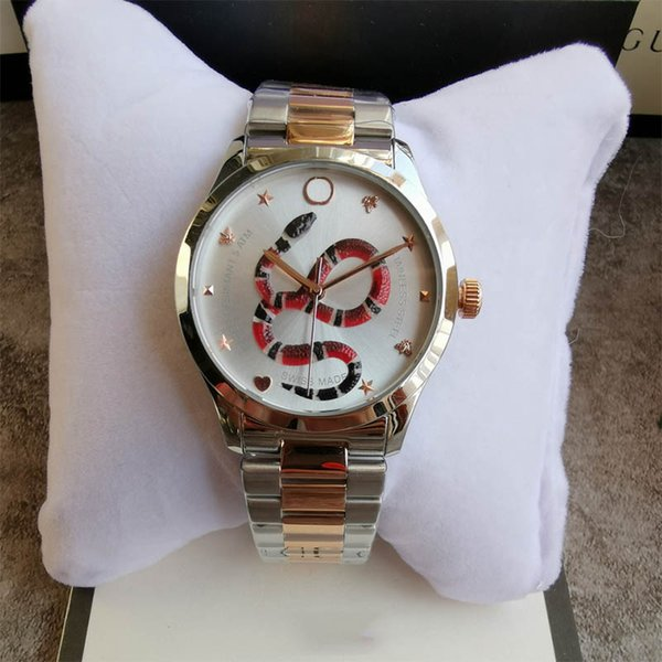New style fashion G-timeless couple watch 38mm 28mm luxury mens women watch stainless steel strap quartz snake wristwatch montre de luxe
