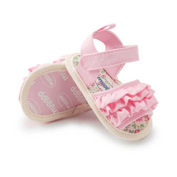 Baby Fold Fiori Scarpe Sandali antiscivolo Scarpe per bambini Lovely Fashion Girl Sandali Magici Babys per Kid 6-18M