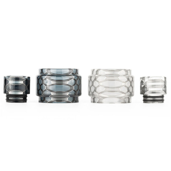 (DHL) Snake Skin Convex Resin Tube with Mouthpiece Cobra Drip Tip for Eleaf Ello POP Atomizer 6.5ML Fit iStick Mix Kit etc