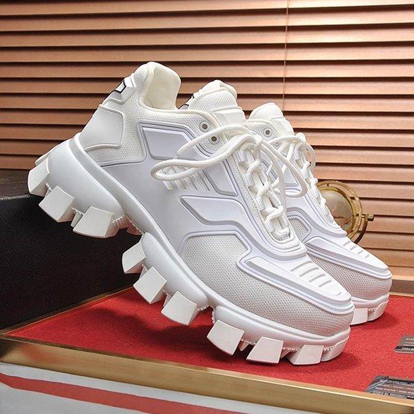 Cloudbust Thunder Knit Sneaker мужская обувь White Herren Sportschuhe Ходьба на открытом воздухе с низким верхом на шнуровке Винтажные осенние и зимние кроссовки