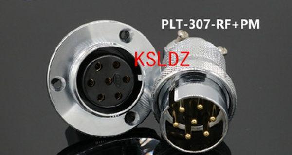 best selling Free shipping lot (1 pieces lot)original New PLT APEX PLT-307-RF+PM PLT-307-RF-R PLT-307-PM-R 7PINS Aviation Plug and Socket Connector
