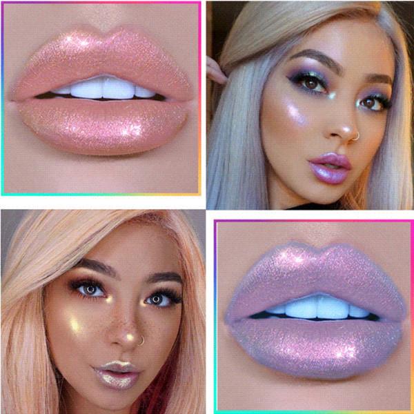 Liquid Crystal Glow Lip Gloss Laser Holographic Lip Tattoo Lipstick Mermaid Pigment Glitter Lipgloss Lip Plumper Gloss Makeup
