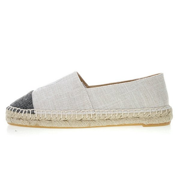 6e72906f6d655 2019 New Summer Loafers Luxury Designer Espadrilles Women Canvas Soft  Genuine Leather Flats Ladies Casual Flat Top Quality Running Shoes  Sheepskin ...