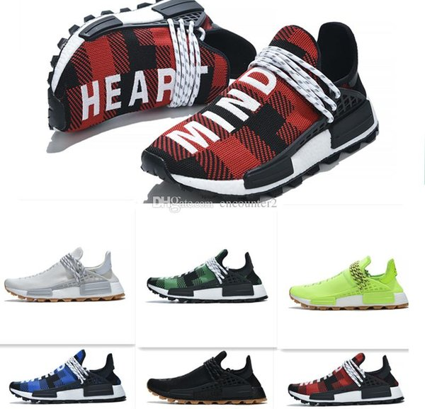 human race pw running shoes pharrell williams hu trail nerd solar pack holi festival bbc designer mens women trainer sports sneakers 5-12.5