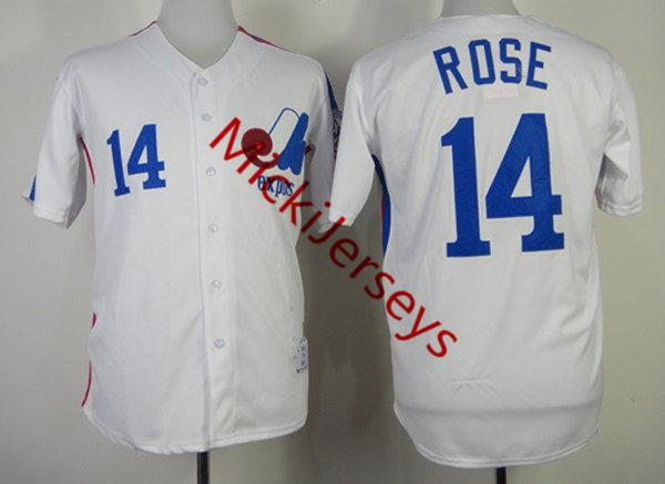 14 Pete Rose Montreal White