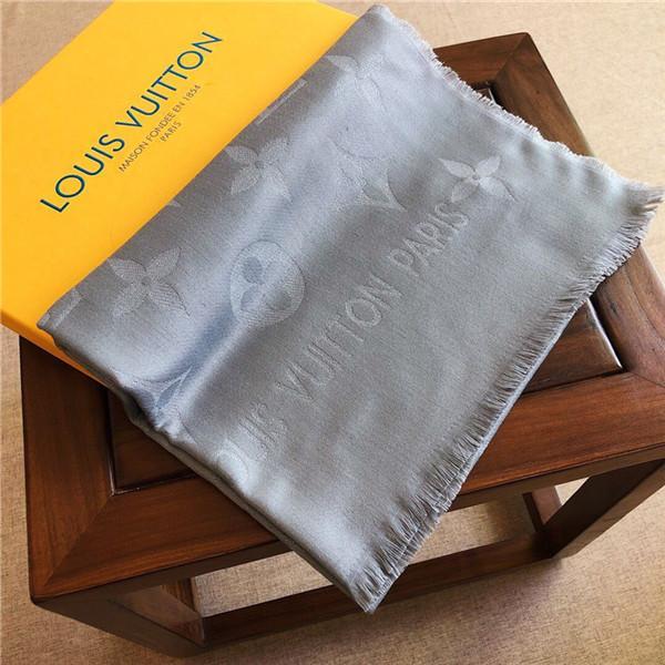 El multimillonario Pañuelo de seda suave jacquard topsss mantones de la bufanda de moda para hombres y mujeres chal mejor tamaño del regalo 180 * 70cm A2LLouisVuitton