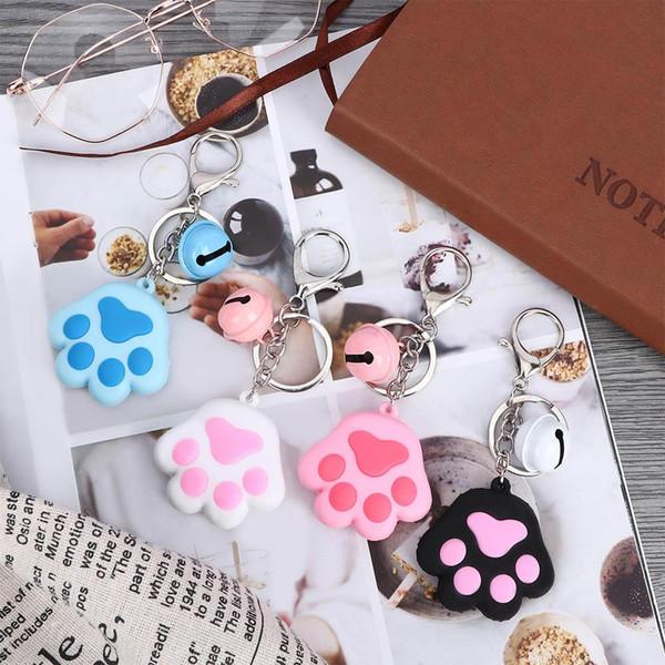 Creative Cute Dog Cat Keychain 3D Cartoon Animal Soft Silicone Car Accessories Handbag Decor