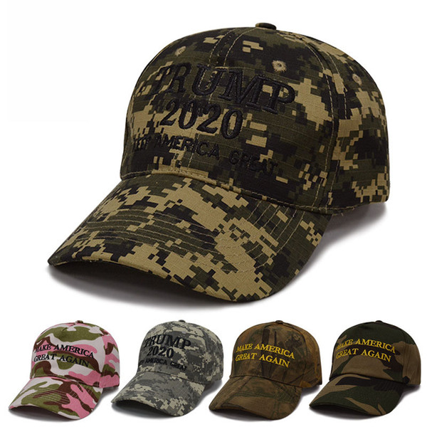 New Fashion Make America Great Again Hat Donald Trump Republican Snapback 3D Embroidery Camouflage Mens Hat Adjustable Snapback for Women
