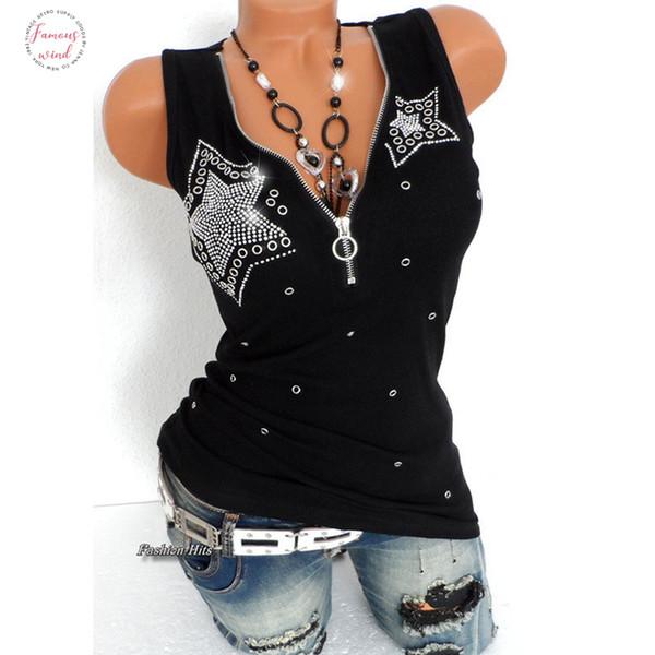 Large Hot Size Cotton Fashion Summer T Shirt Women Plus Size Sleeveless Slim V Neck Tops Sexy Black Elegant Tshirt