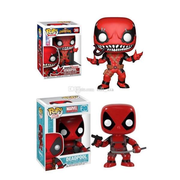 Adorable Deadpool Marvel Cute Version of Dead Hand Toy Model Funko POP Champion Standing Deadpool Hand Hand Cartoon Car Furnishings Deadpool