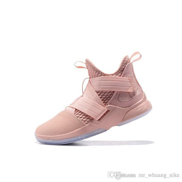 timeless design 4b287 a222b 2019 Cheap Men Lebron Soldier 12 Shoes Pink White Blue Easters Christmas  Youth Kids Lebrons Soldier Xii Sneakers With Box From Mr_whuang_nike,  $45.23 ...