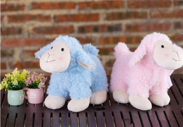 20170717 Hot Sales Creative Super Cute Stuffed Animals Soft Blue Pink Alpaca Doll Children Plush Toys Gifts Pendant Sleep Warm