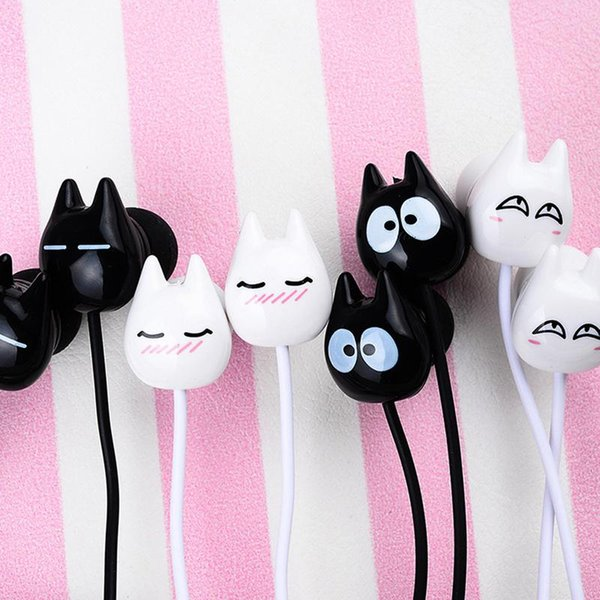 Cartoon Cat Style Wired Earphone Students Couples Music Call Universal Headphone Boutique Packaging Headset