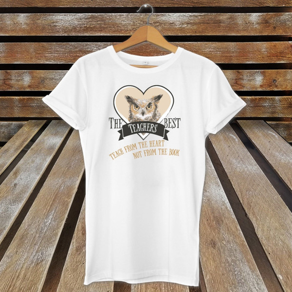The Best Teachers Teach From The Heart Not The Book Cute T-Shirt Present / Gift Size Discout Hot New Tshirt Brand shirts jeans Print