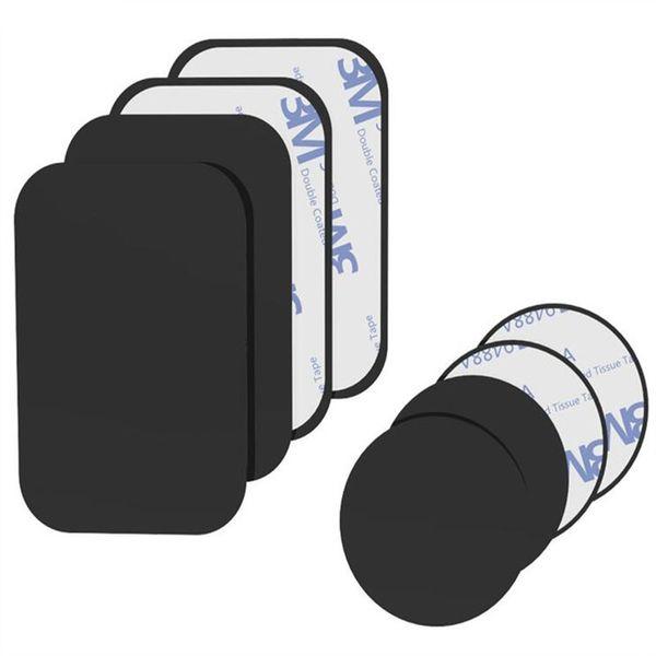 Plaque en métal de vente chaude Kit de plaque en métal de remplacement universel avec adhésif pour support de voiture magnétique support de téléphone aimant support mobile