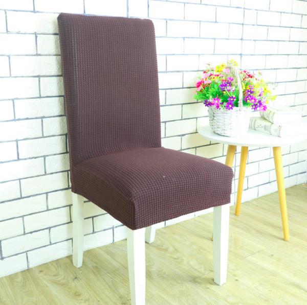 30 PCS Fundas antideslizantes para sillas sin brazos para fundas de cocina de comedor Jacquard suave Decoración para el hogar