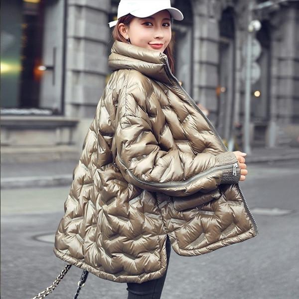 New Inverno Pão Light Serviço Plus Size Donsjack Mulheres Parágrafo Curto solto Brasão Moda Hetero SH190930 Top da Mulher Jas