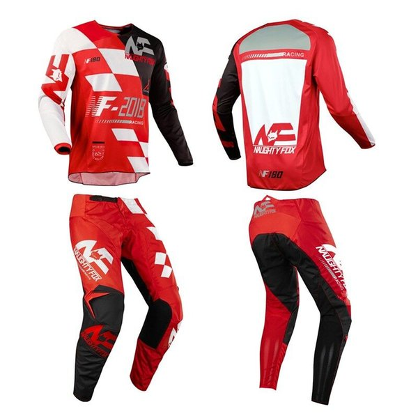 Corrida 180 Novo Design Sayak Motocross Racing Suit DH MTB MX Motorcycle Off-Road JerseyPants Red 180 Moto Combos