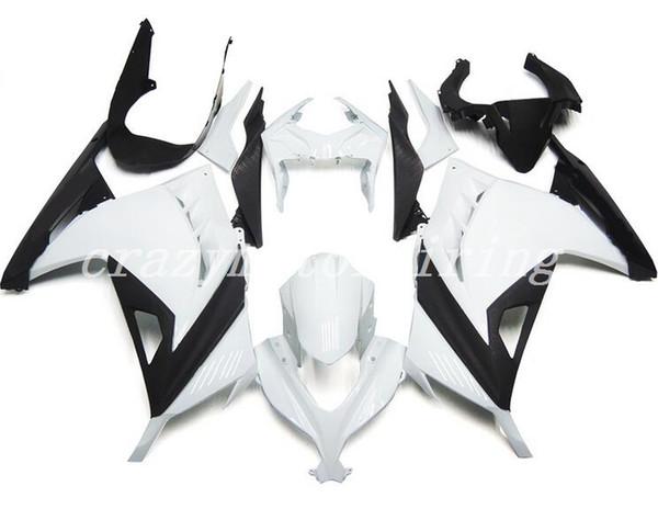 4Gifts New Injection Mold ABS Motorcycle fairings kits Fit For kawasaki Ninja 300 EX300 2013-2017 Ninja 300 13 14 15 16 17 custom white