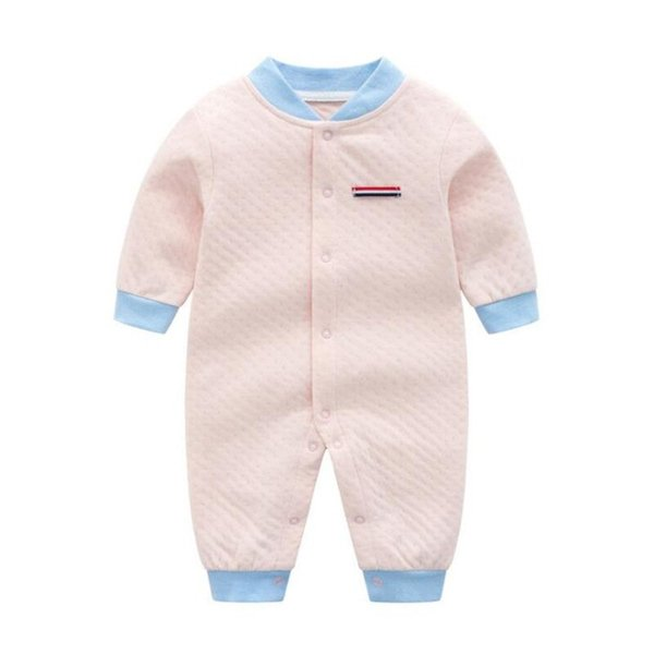 Pink Baby Girl Romper Long Sleeve Onesie Baby 3-12 Months O-neck Toddler Romper Newborn Clothes Wholesale Free Shipping