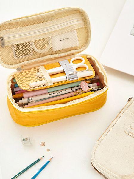 Korean Kawaii Penal Cute School Pencil Case Large Big Pen Bag Pouch Multifunction Stationery Box Supplies Cosmetic Box 2018 2019