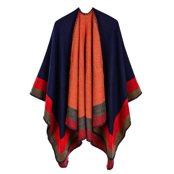 Ladies' shawl 53*59inch Jacquard Warm Cape Cloak autumn winter scarf women long thick cloak