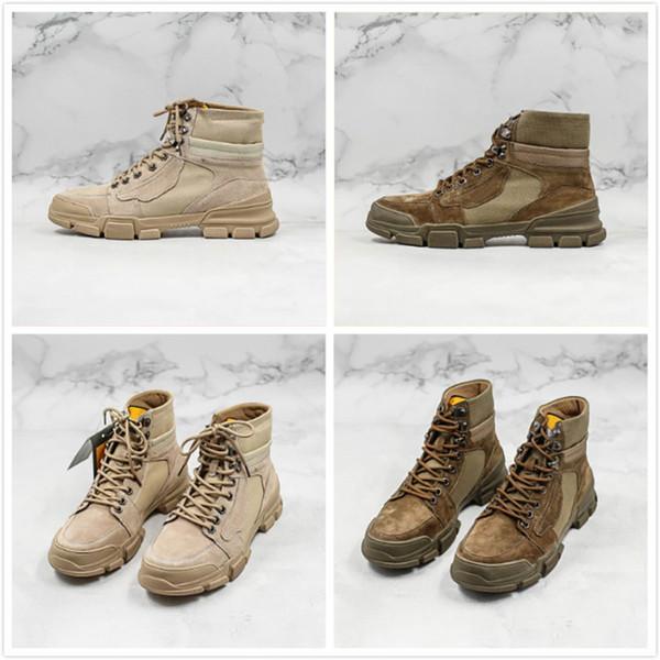 Outdoor Calçado frescos Botas Running Shoes Khaki Brown Street Vintage Designer sapatos desportivos sapatos Rua Homem Mulher Chaussure