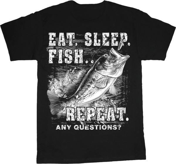 Мужская хлопковая футболка с надписью Fisher Fish