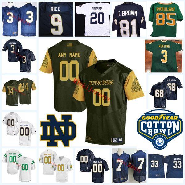 best sneakers e3b90 a7ef7 2019 Custom Notre Dame Fighting Irish Ian Book College Football Jerseys  Julian Love Justin Yoon Alize Mack Nicco Fertitta Notre Dame Jersey From ...