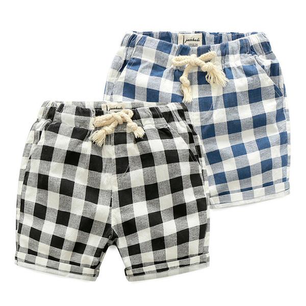 2019 OLEKID Sommer Jungen Shorts 100% Baumwolle Marke Beach Plaid Kinder Shorts Für 2-7 Jahre Kinder Kleidung Teenager Shorts