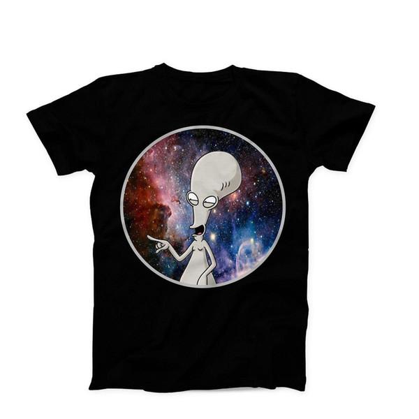 American Dad Roger Programa de televisión Anime Fresco Divertido Novedad Camiseta Regalo de cumpleaños Nueva llegada Camisetas masculinas Camiseta Casual Boy Tops Descuentos