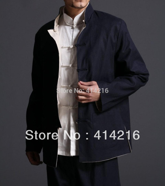 men man double sides reversible wing chun kung fu Martial arts uniforms Chinese traditional Tang suits jacket coat clothes
