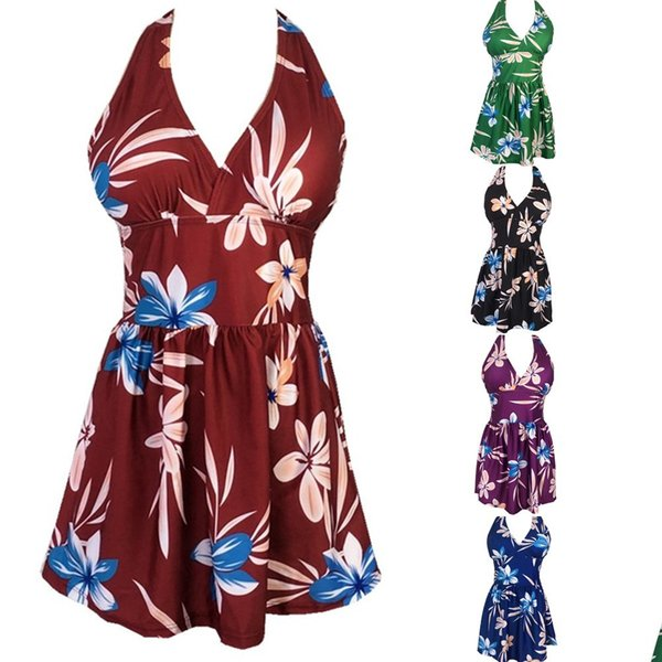 2019 Новый принт плюс Размер Купальники Юбка Тип Солнцезащитный крем для Бикини Пляж Развлечения цельный купальник для женщин струнный пляжный костюм