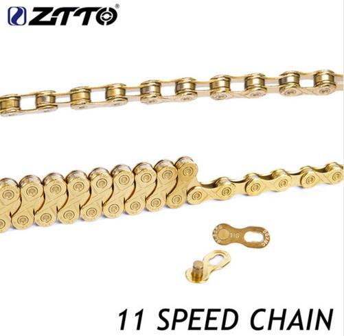 ZTTO 11 Speed Chain Mountain Road Bicycle Parts High Quality Durable Gold Golden Chain for Parts K7 System