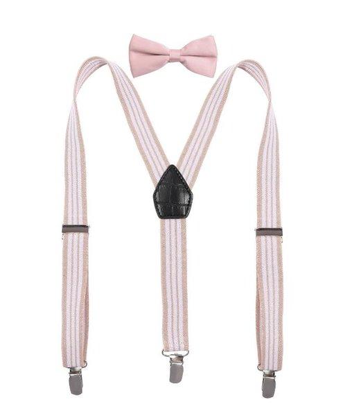 Розовый белая полоса