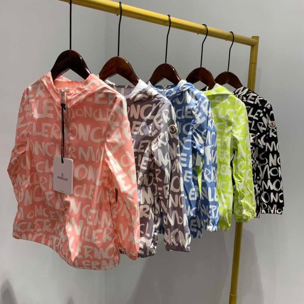 2019 Children Clothing Spring Summer for Boys Girl Boy Hooded Sun Protection Clothing Kids Baby Coat Zipper Tops Kids Jacket