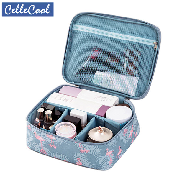 CelleCool Multifunction Waterproof Portable Cosmetic Bag Organizer Big capacity Women Travel Necessity Beauty Makeup Bag