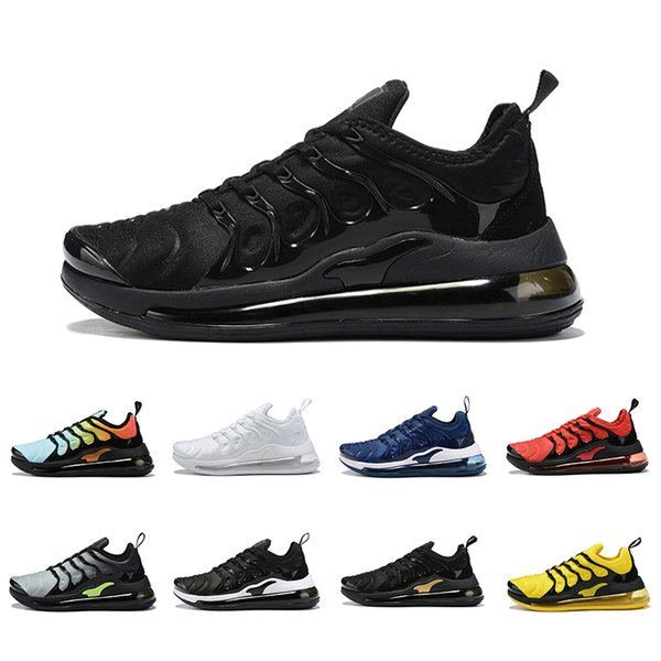Compre Nike Air Max 720 Tn Airmax Shoes TN Plus Mujer Hombre Zapatos Para Correr Sunset Triple Black White Bumblebee Volt Work Blue Zapatillas De
